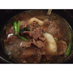 Thai korean style beef soup
