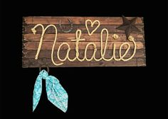 Natalie: 36 Western Rope Name Sign Cowboy Theme by RopeAndStyle