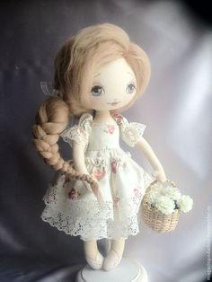 Девочка Аля - кремовый,интерьерная кукла,текстильная кукла,в подарок,для дома и интерьера