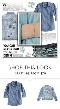 """""""Denim Jacket"""" by dolly-valkyrie ❤ liked on Polyvore"""