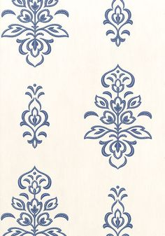 ST. BARTS, Navy on White, T4965, Collection Jubilee from Thibaut