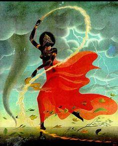 Iensã - orixá dos raios e das tempestades - ilustrador desconhecido / não identificado