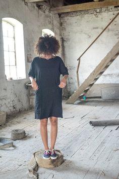 Tunika Big Pockets Czarna - KOKOworld - Sukienki dla puszystych