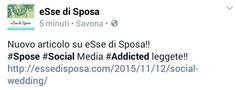 Nuovo articolo  su essedisposa.com Spose social addicted non lasciatevelo  scappare!!