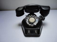 Antique Two-Line Dial Monophone Black Telephone Circa 1930 | eBay