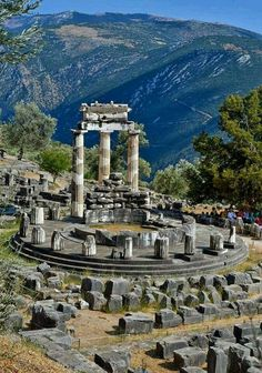 The Tholos Temple- Delphi, Greece