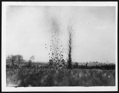 German shell bursting close to our trenches by National Library of Scotland, via Flickr