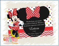 Convite Minnie Vermelha