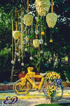 [Click on the photo to book your wedding photographer]  Mehendi Decor Ideas For Indian Wedding Bride  Curated by Best Indian Candid Wedding Photogrpaher Rish Agarwal