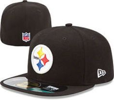 95fb6254d Era Pittsburgh Steelers PA 5950 Black Cap NFL Football Fitted Hat 7 3 8