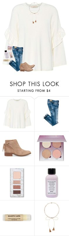 """""""broke my retainer in half smh"""" by classyandsassyabby ❤ liked on Polyvore featuring Tory Burch, Sole Society, Anastasia Beverly Hills, Davines and Chan Luu"""