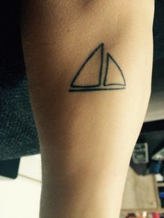 My little sailboat tattoo #tattoo #boat #sailboat