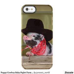 Puppy Cowboy Baby Piglet Farm Animals Babies Clear iPhone SE/5/5s Case