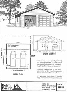1000 images about garage plans by behm design pdf plans for 26 x 36 garage