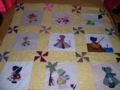 sun bonnet sue quilt   I have 2 almost like this from my grandma