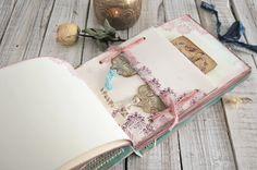 Fairytale wedding guest book Sea Breeze por SevenMemoriesBookArt