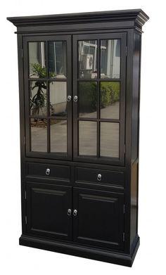 vitrinskåp svart China Cabinet, New England, Dining, Storage, Newport, Furniture, Home Decor, Dinner, Purse Storage