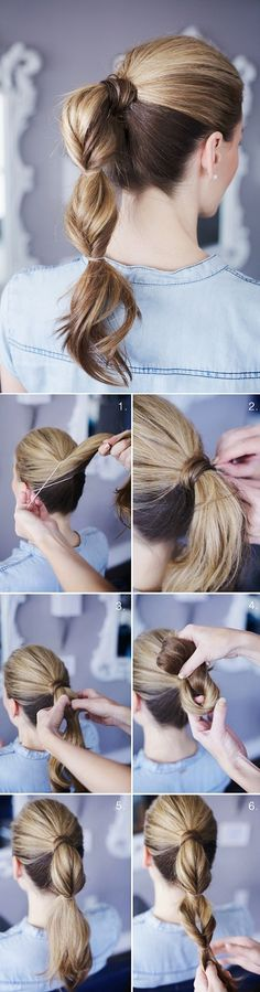 Festive Hair: Grown-up topsy tail