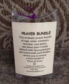 Reach for a prayer bundle to bless, uplift, and celebrate the moment. Each bundle is infused with unconditional love, nature's aromatic blessing, and divine light.