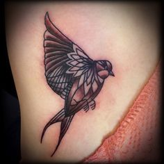 Bird tattoo design, black and grey, blackwork tattoo, mendi, mandela bird tattoo