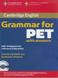 Cambridge English Grammar for PET with Answers : Self-Study Grammar Reference and Practice Grammar Book Pdf, English Grammar Pdf, English Exam, English Grammar Worksheets, English Book, English Lessons, Teaching English, Learn English, Esl Lessons