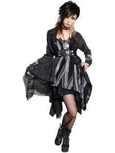ROCK ASYMMETRY Chiffon One-Piece / See more at http://www.cdjapan.co.jp/apparel/new_arrival.html?brand=SPT #punk #jrock
