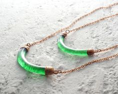 Irish Whiskey Necklace - Recycled Jameson Bottle - Melted Glass and Copper Pendant - Recycled Upcycled Repurposed Jewelry Bottle Jewelry, Bottle Necklace, Jewelry Show, Bar Necklace, Glass Jewelry, Jewelry Making, Necklaces, China Jewelry, Bottle Art