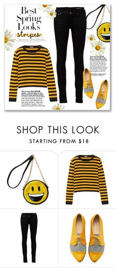 """One Direction: Striped Shirts"" by kellylynne68 ❤ liked on Polyvore featuring H&M, Miller, Miu Miu and Yves Saint Laurent"