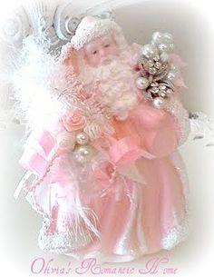 Shabby pink Santa