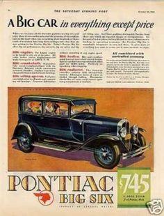 Pontiac Big Six 2-door Sedan Color (1929)