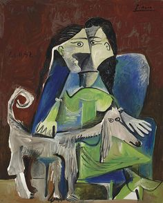 Pablo Picasso - Woman and Dog [1962] -