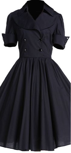 Dress by Amber Middaugh/// Love this dress!!!   Cannot tell if this is deep dark blue or softened black...but great color and lovely classic shirtwaist moderned....