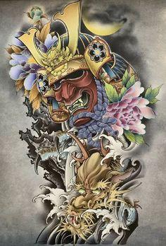 Japanese Tattoo Art, Samurai Tattoo, Irezumi, Geisha, Oriental, Arms, Tattoos, Inspiration, Masquerade Tattoo