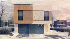 Zx45 2m to wyjątkowy dom z kategorii projekty domów dwurodzinnych (dwulokalowych)