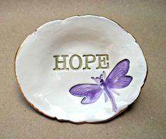 Ceramic HOPE Trinket Bowl van dgordon op Etsy, $15.00