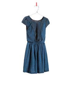 DRESS WITH BIB FRONT from Zara