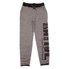 NATIVE (plus size kids) spodnie dresowe ze ściągaczem 1401-428 CILLA PANT col. koks melange