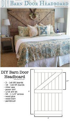 Barn Door Headboard with a Wreath