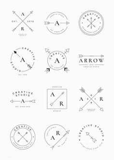 Very happy with the result! Wedding Logo Design, Wedding Logos, Logo Atelier, Typography Logo, Lettering, Tattoo Casal, Natur Tattoos, Arrow Logo, Make Your Own Logo