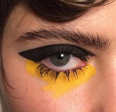 black yellow cream eyeshadow