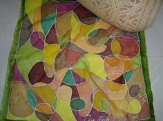 Pintura em seda pura, por Cristina Paes