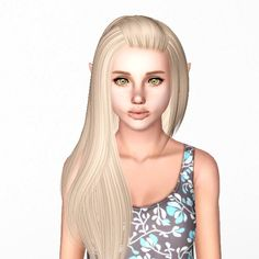 Alesso`s Kim hairstyle retextured by Sjoko for Sims 3 - Sims Hairs - http://simshairs.com/alessos-kim-hairstyle-retextured-by-sjoko/