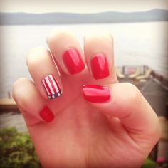 Happy fourth! Red white and blue nails! Gel Nails, Manicure, Nail Polish, Mani Pedi, Hoilday Nails, 4th Of July Nails, July 4th, Nail Tips, Nail Ideas