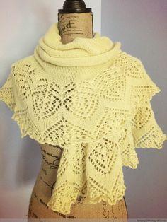我的披肩季之三-仿春分平针披肩 - Tina - Tina的手工编织的博客