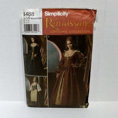 Simplicity 4488 Renaissance Sewing Pattern by NYCFitnessFamilyFind