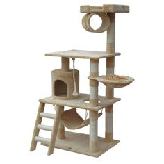 """You should see this 62"""" Cat Tree in Beige I on Daily Sales!"""