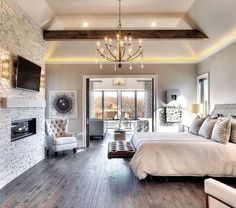 This is it! The bedroom arrangement I want with an beautiful sitting area.