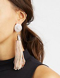 c13dc6a43557 Metallic Fringe Tassel Earrings Pendientes De Borla
