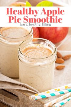Healthy Recipes : Illustration Description This easy and healthy Apple Pie Smoothie with fresh apples, yogurt, walnuts, and a touch of ginger is a delicious and filling breakfast or snack. Apple Pie Smoothie, Smoothie Packs, Smoothie Drinks, Healthy Smoothies, Smoothie Recipes, Breakfast Smoothies, Healthy Breakfast Recipes, Healthy Snacks, Healthy Recipes