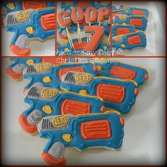 nerf gun cookies! @Lorraine Rossell Richie...have you seen these?